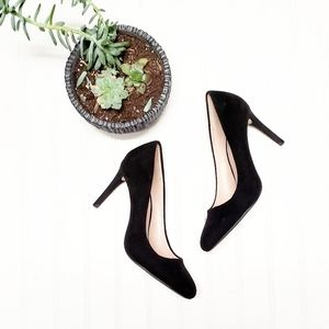 🎉Zara Basic Black Suede Pointed Toe Classic Heel